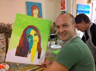 Workshop Portretschilderen Pop Art Bedrijfsuitje In Den Haag